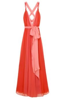 Halston heritage: Summer Dresses, Maxi Dresses, Style, Grecian Gowns, Bridesmaid Dresses, Straps Grecian, Colors, Halston Heritage, Coral Maxi