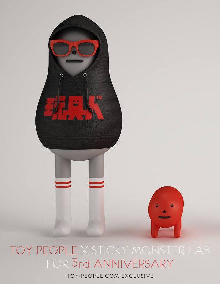 【官圖公佈】玩具人 × Sticky Monster Lab【玩具人三周年慶生公仔】祝玩具人生日快樂!!   玩具人Toy People News