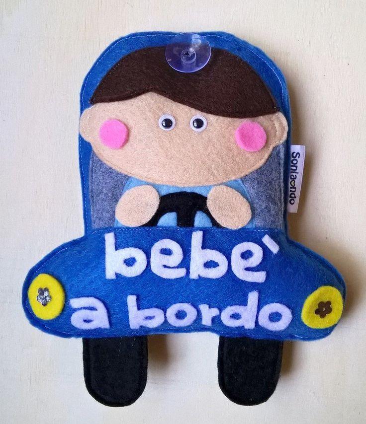 Bebè a bordo - Targa per auto in feltro, by Soniando, 24,00 € su misshobby.com