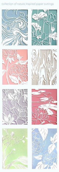 """Collection of 4.5x6"""" Bristol cut outs"""