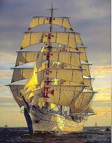 Portuguese tal sails ship 'Sagres' #portugal