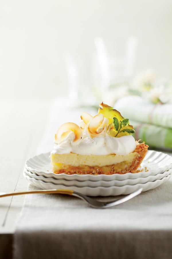 Forget the rolling pin and tricked-out lattice topping—just pat the crust in the pan, add a little tropical flair (we're talking a delicious pineapple-coconut filling here), then bake and chill.  Recipe:Piña Colada Icebox Pie