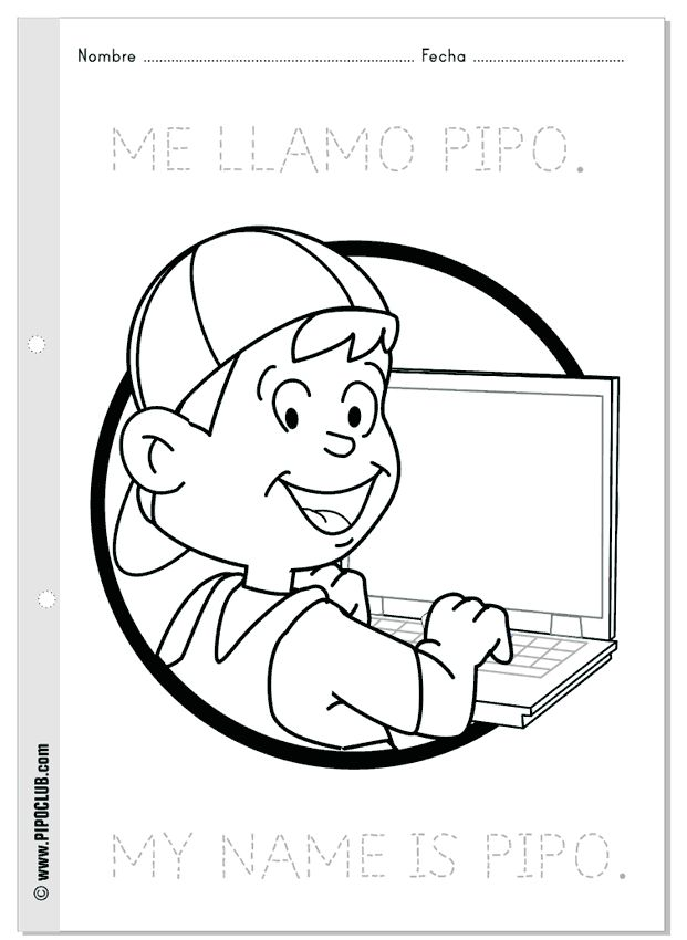 Colorea: Me llamo Pipo | Coloring: My name is #Pipo #coloring ...