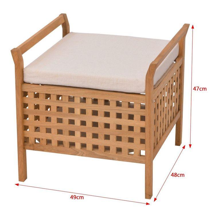Badezimmer vidaXL Massivholz Sitzbank Sitztruhe Aufbewahrungstruhe Walnussholz 49x48x47 cm   Möbel & Wohnen, Möbel, Truhen & Kisten   eBay!