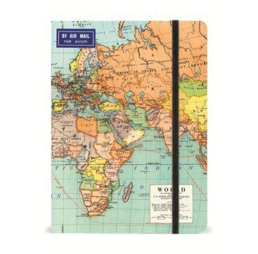 Notebook World Map 2 - Bobangles #Cavallini #vintage #map #world #notebook #stationery
