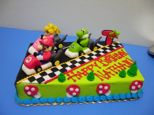 decoration gateau mario kart