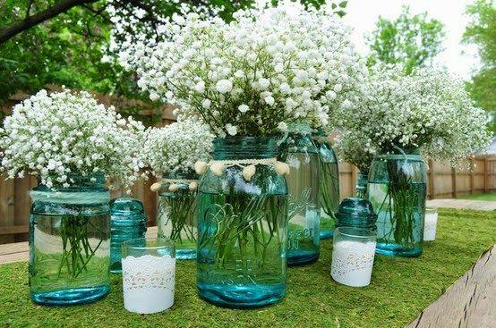 Palavras, Leva-as o Vento: Decoração Flores- Chuva de prata ou Gipsofila