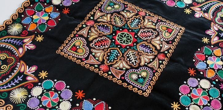 Europe - Slovakia/Detva, crooked needle embroidery on velvet