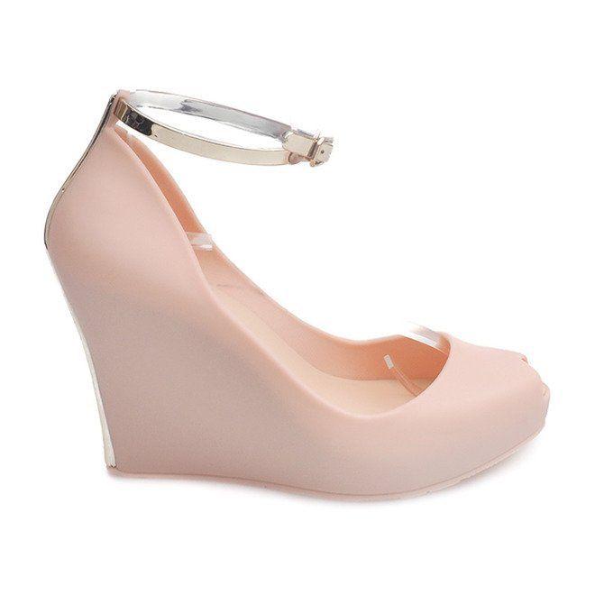 Meliski Na Koturnie Odkryte Pt71 Bezowy Shoes Wedges Fashion