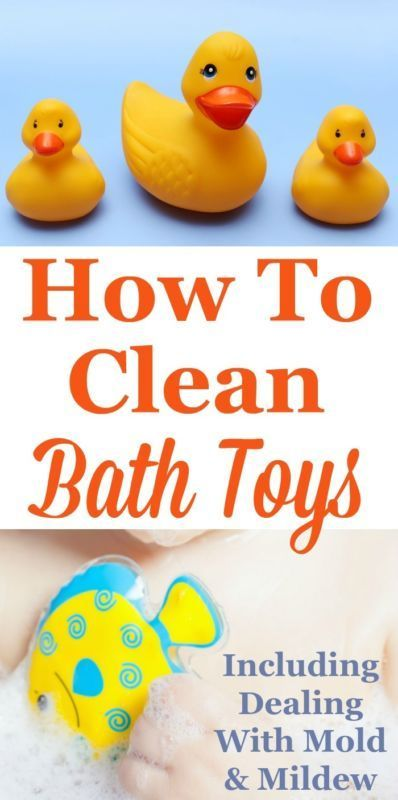 How To Clean Bath Toys, Including Dealing With Mold And Mildew, Plus Tips  For