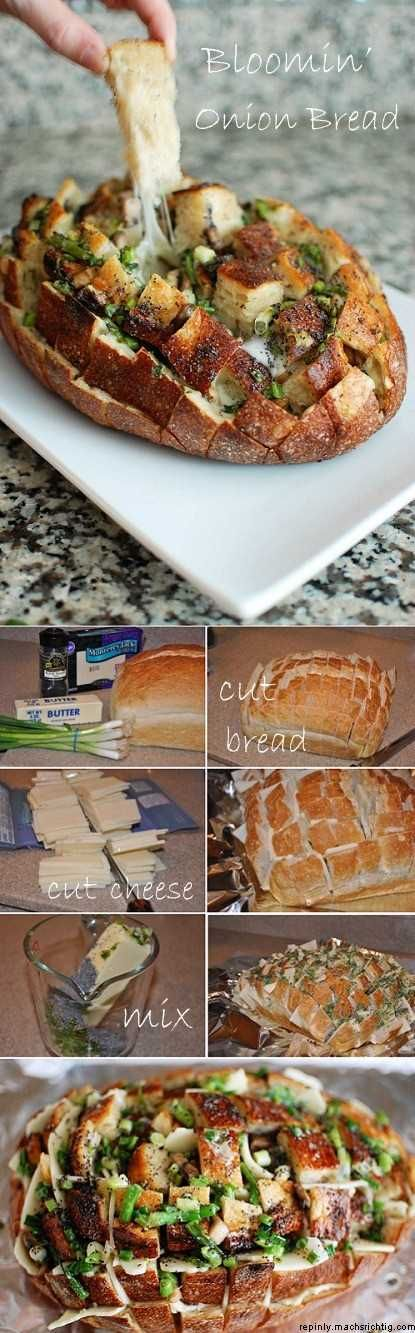Bloomin' Gooey Cheese Bread...I want it NOW