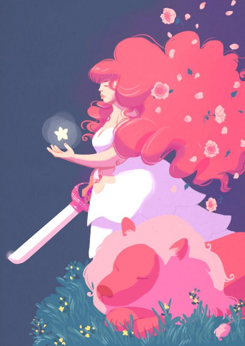 Illustration lion sword MyWork rose quartz steven universe