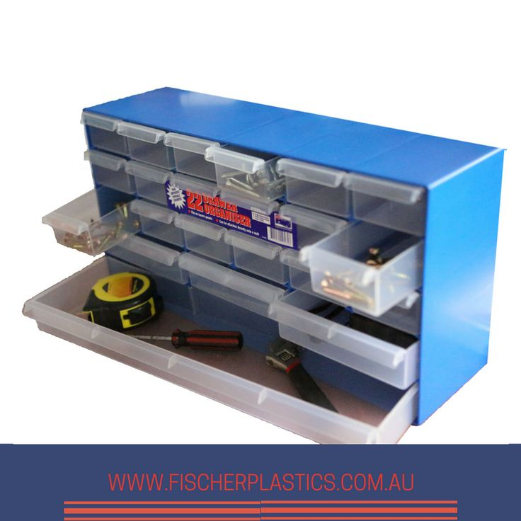 The body of our 22 Drawer Organiser is made from high impact styrene and the drawers are made from durable co-polymer, making this storage solution tough and durable.  The 22 Drawer Organiser is perfect for the tradesperson, handyman or for the home.