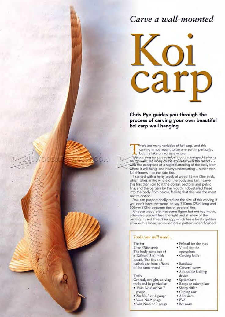 3336 best wood carving images on pinterest carved wood for Koi carp pole