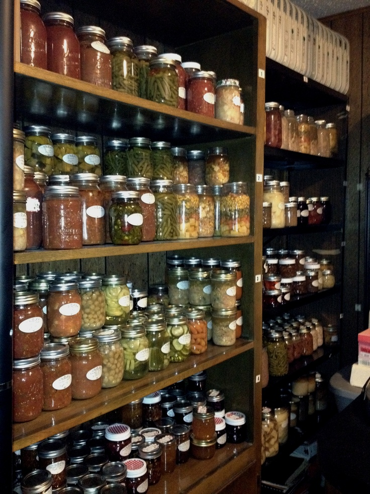 Part Of My Canned Goods In My Pantry Pantry Pinterest Pantry Root Cellar And Storage
