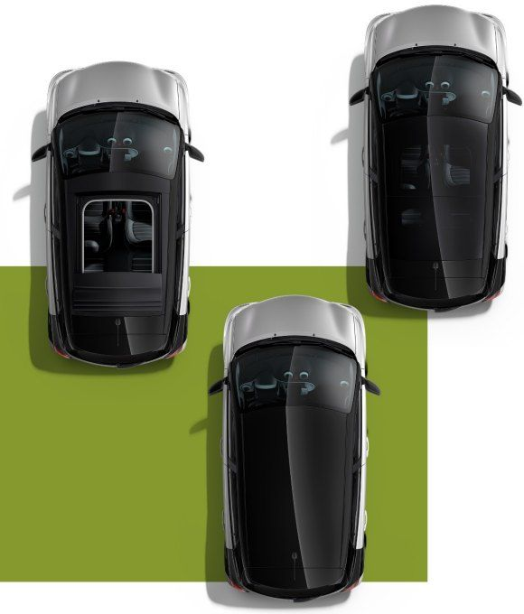 nuova #smart #forfour - tetto Panorama