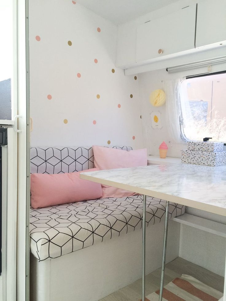 Bright and light camper space