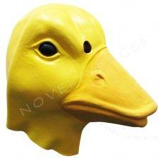 Latex Animal Masks : Animal Overhead Mask - Duck (Orange Beak - Latex)