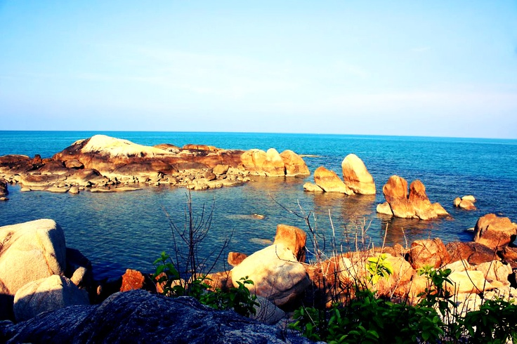Rock Island Parai Beach Bangka Belitung, Indonesia