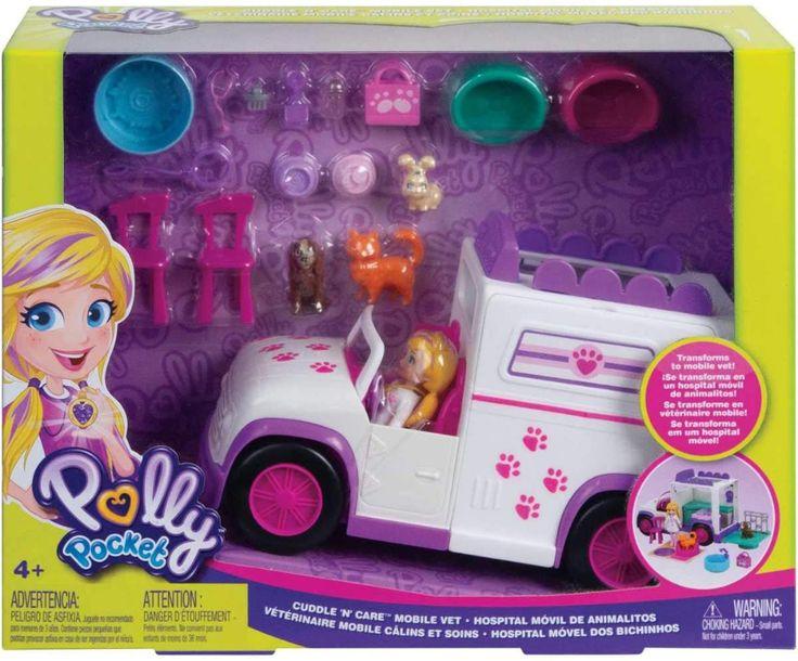 Polly Pocket Cuddle 'n' Care Mobile Vet Toys