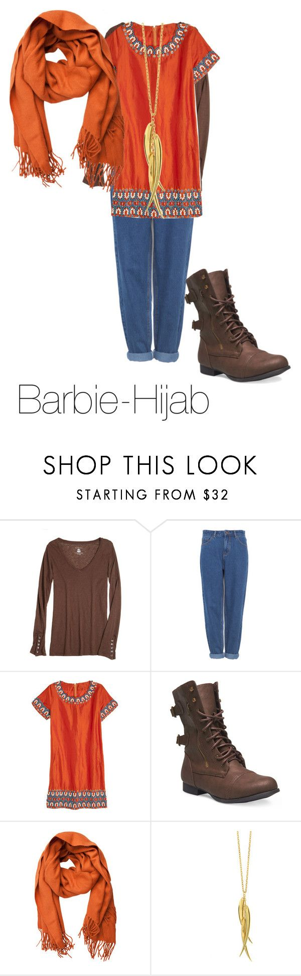 """""""Hijab outfit #6"""" by barbie-hijab ❤ liked on Polyvore featuring Velvet, Pull&Bear, Calypso St. Barth, Wet Seal, Pieces and Dinny Hall"""