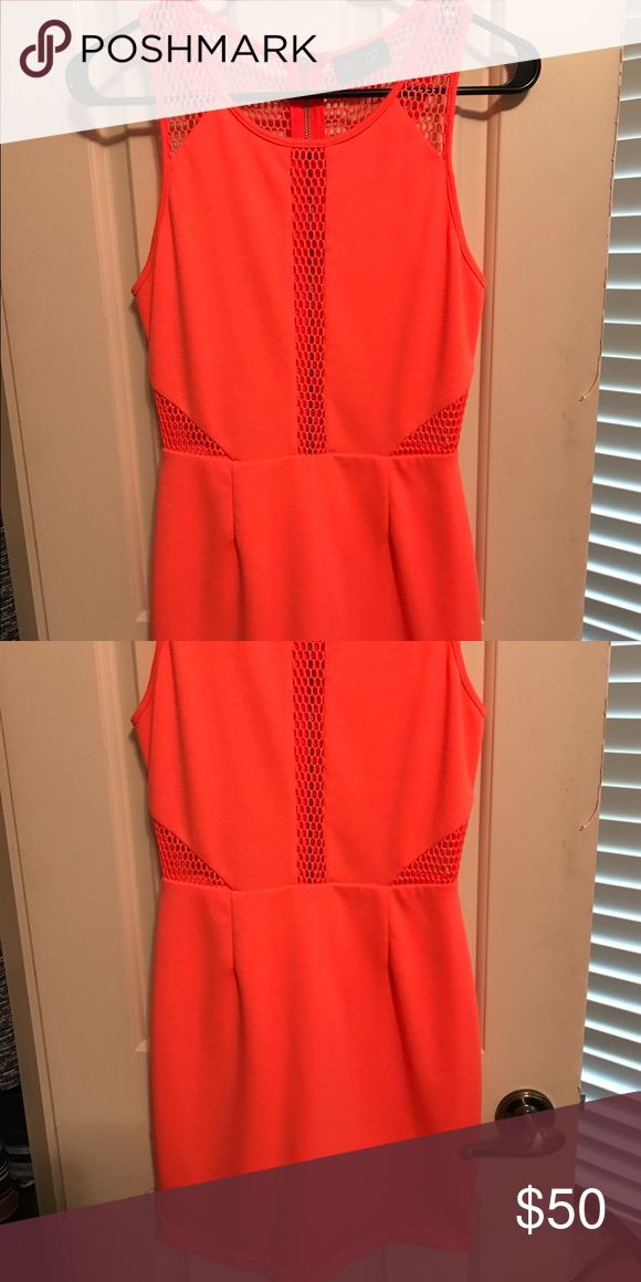 ASTR Neon Orange Dress - Never Been Worn! Dress has never been worn. This dress is a hot tight fitting dress, perfect for going out! Astr Dresses Mini