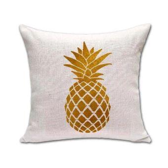 จัดเลย  Outdoors Shop Decor Pineapple Printed Chair Sofa Bed CushionPillowcase Cotton Linen Pillow Cover - intl  ราคาเพียง  180 บาท  เท่านั้น คุณสมบัติ มีดังนี้ Material: Cotton Linen Size: 45 cm X 45 cm Durable Comfortable Environmentally friendly