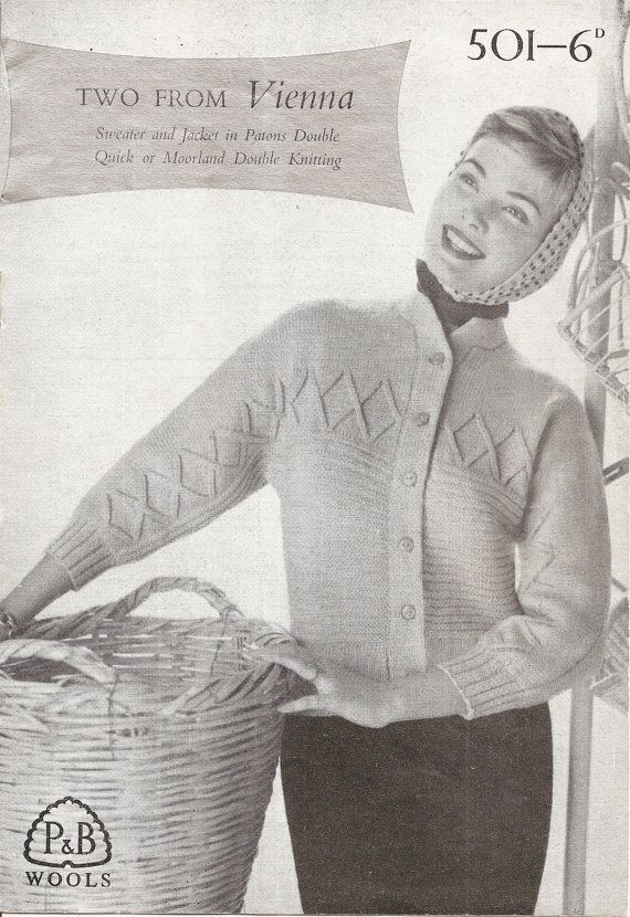 1940's / 1950's Knitting Booklet Cardigan
