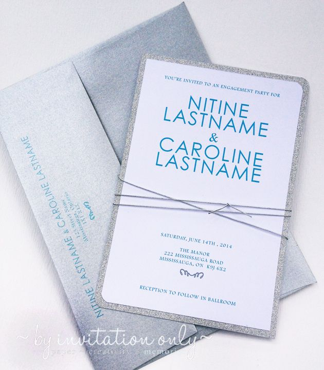 www.facebook.com/byinvitationonlydesigns Silver & tiffany blue wedding invitations