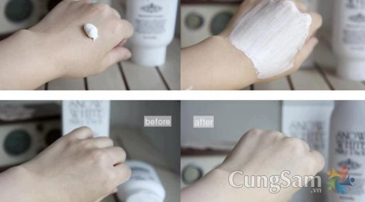 Kem tắm trắng cả mặt và toàn thân Snow White Milky Pack | CungSam.vn