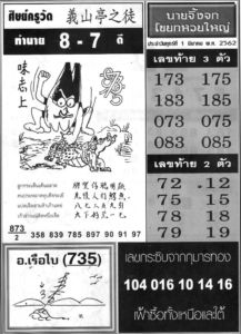 Thai Lottery 2nd Papers MAGAZINE Tips for 1-3-2019