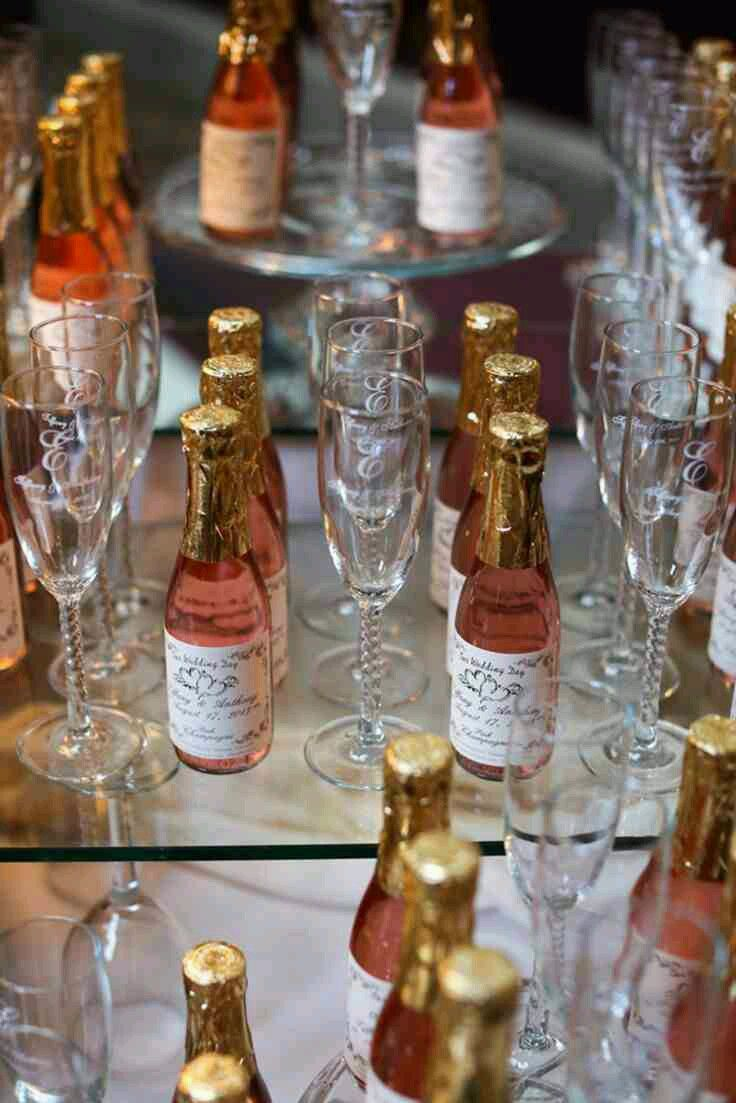 Wedding Favors Personalized Sparkling Cider Wine Champagne