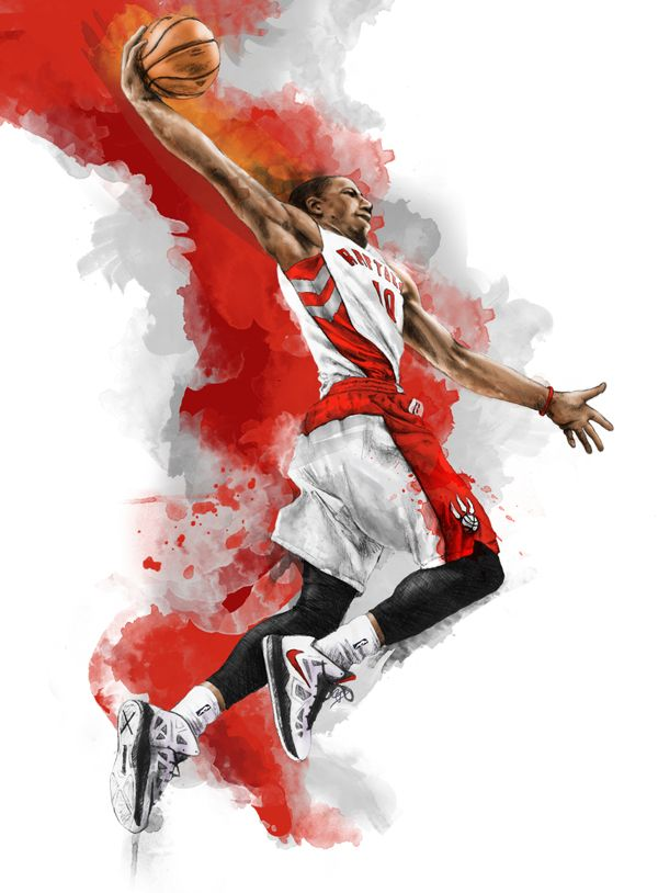 Demar Derozan, Toronto Raptors by Chris DiBenedetto, Print available at pencilmouse.ca