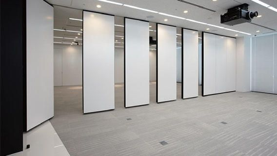The Operable Sliding Partition Wall Is A Hanging System The High