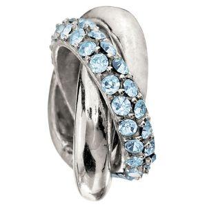 Chamilia Bead - Rings-Aquamarine Bead