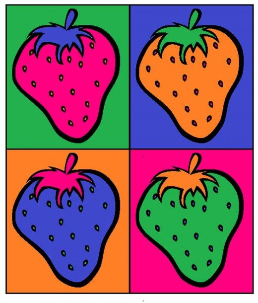 Finished strawberry pop art.
