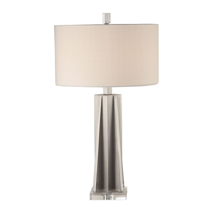 Trinculo Contemporary Brushed Nickel Table Lamp In 2019