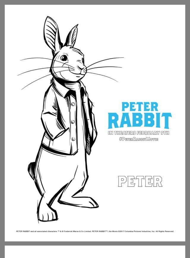 Peter Rabbit Coloring Pages Pin Von Llu Sa Salvador Auf Teaching English Peter Rabbit Movie Rabbit Colors Peter Rabbit
