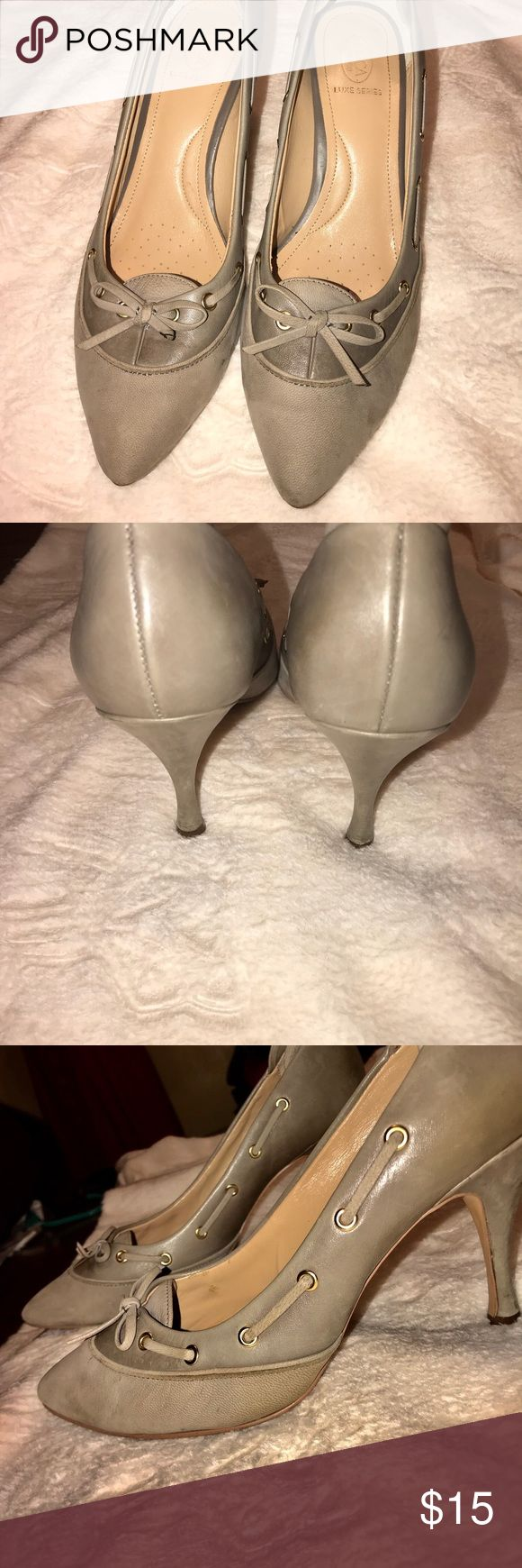Classy Circa Joan David Heels Brand: Circa Joan David Luxe Series  Color: Taupe Leather  Condition: Gently used, minor scuffs on the outside of the shoe and a little worn out on the inside of the shoes. Matches with: Dresses and jeans. Shoes Heels