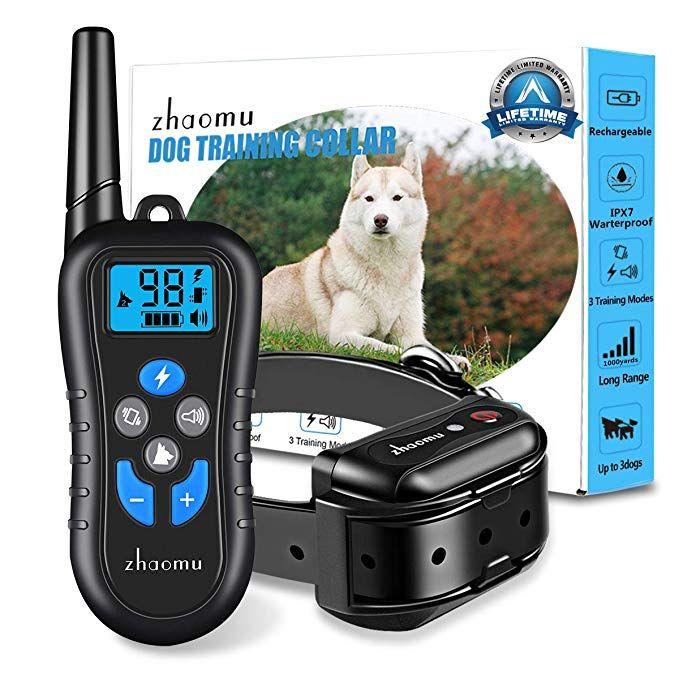 Zhaomu Dog Training Collar With 1000 Yd Remote Range Dog Shock