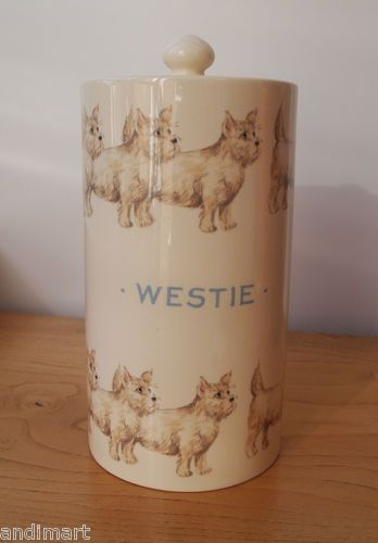 Emma Bridgewater WESTIE Storage Jar From 2006