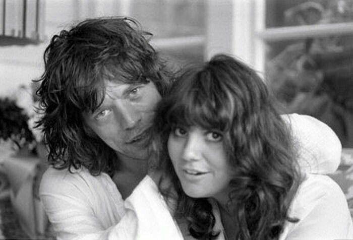 Mick Jagger and Linda Rondstadt