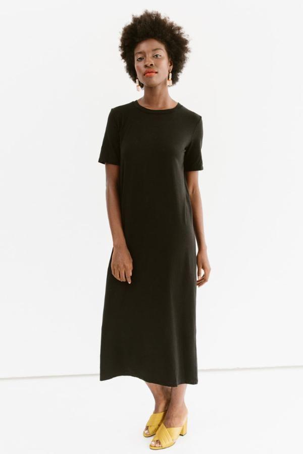 Frankie - Jersey T-Shirt Maxi Dress | Maxi shirt dress, Midi short ...