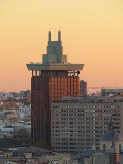 Panorámicas de 360º y fotos al amanecer en Madrid desde la azotea del Palacio de la Prensa de Callao