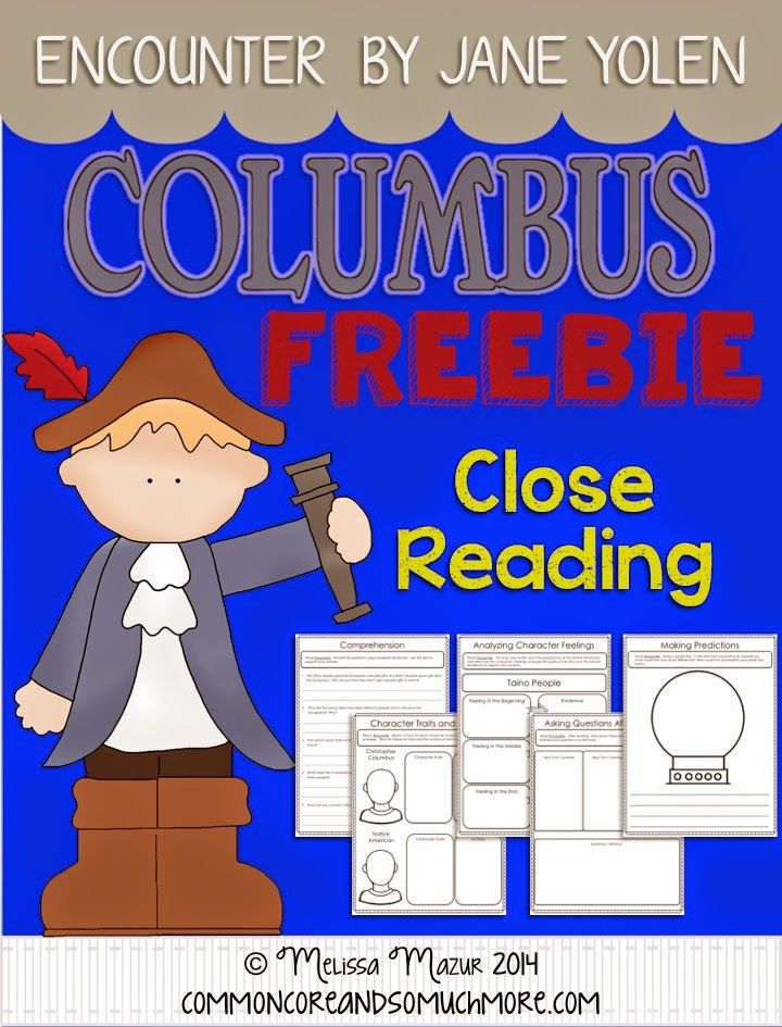 Rethinking Christopher Columbus - Teaching the Truth through Encounter by Jane Yolen- Check out this FREEBIE packet!!