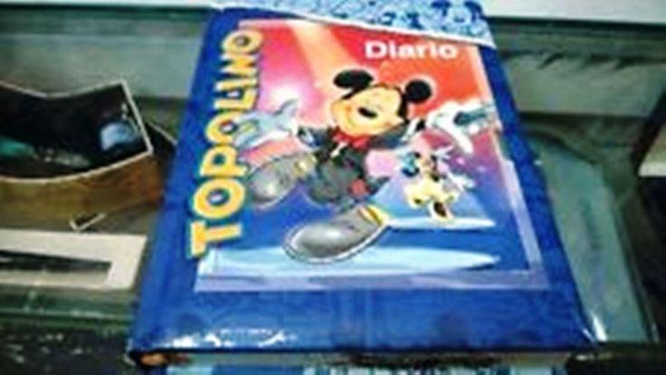 TOPOLINO DISNEY mikey mouse diario scuola vintage S 80