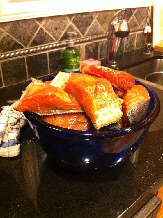 16 best food smoke salmon images on pinterest smoked for Smoke fish brine
