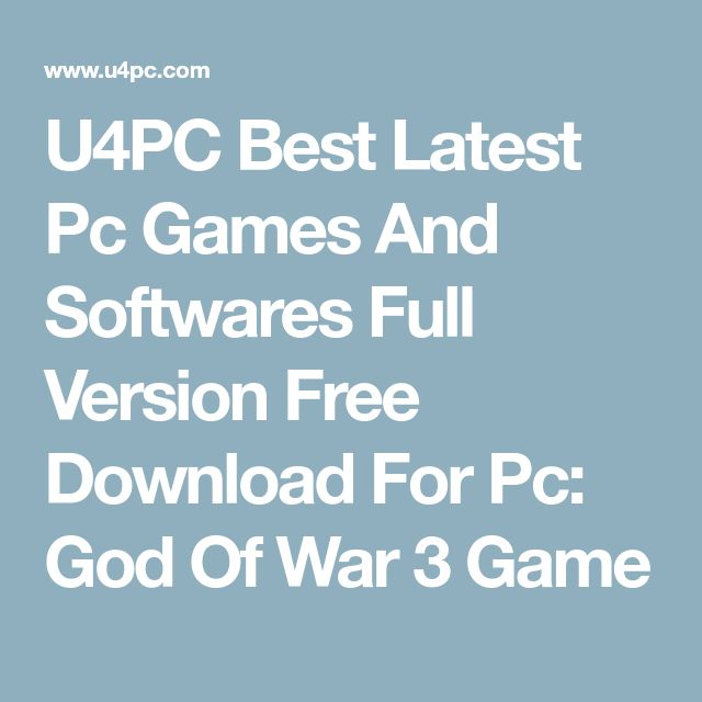 U4PC Best Latest Pc Games And Softwares Full Version Free Download For Pc: God Of War 3 Game