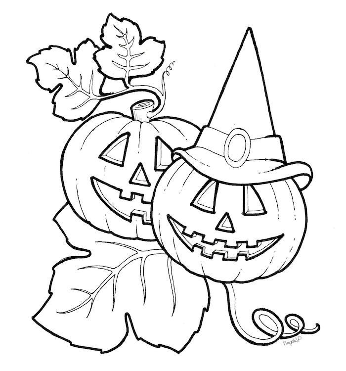 Coloriage Halloween Citrouille Facile A Imprimer Et Colorier Pour