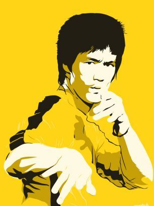 """Bruce Lee"" - Størrelse: 70cm x 100cm / A3"